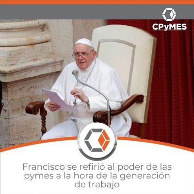 """El papa Francisco pidió este miércoles a los empresarios argentinos """"invertir en el bien común y no esconder la plata en los paraísos fiscales"""", al tiempo que los convocó a elegir """"el camino de la economía social"""" y que hay que """"volver a la economía de lo concreto y lo concreto es la producción""""."""
